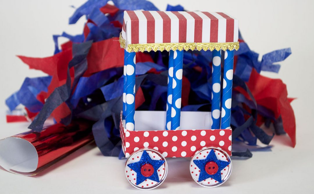 Fourth of July Parade Decor with My Little Red Wagon