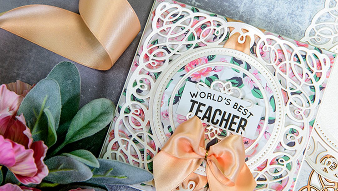 Layered Dimensional Teacher Card by Yana Smakula for Spellbinders Paper Arts Featured Image