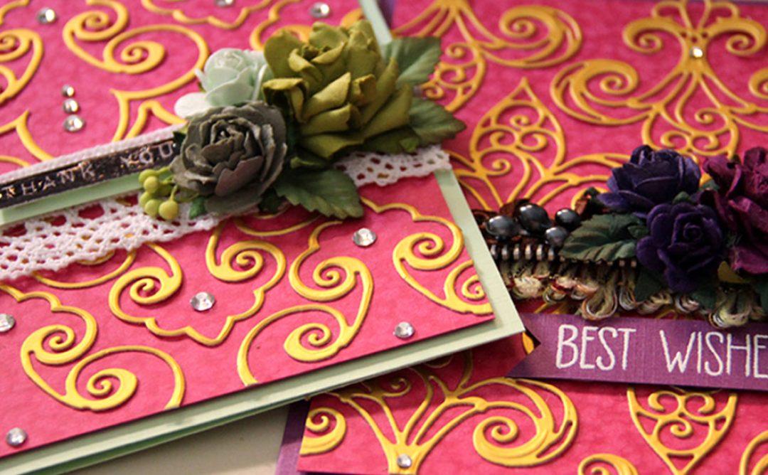 Fleur de France Cards with Nested Etched Dies