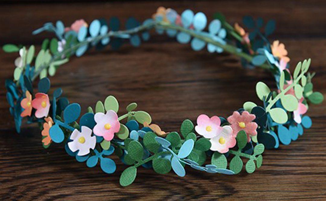 Trendy Flower and Leaf Garland Headband Tutorial