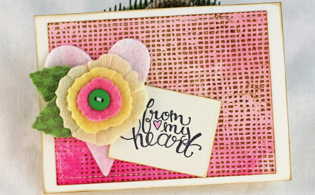 Easy Letterpress Style Backgrounds with Embossing Folders