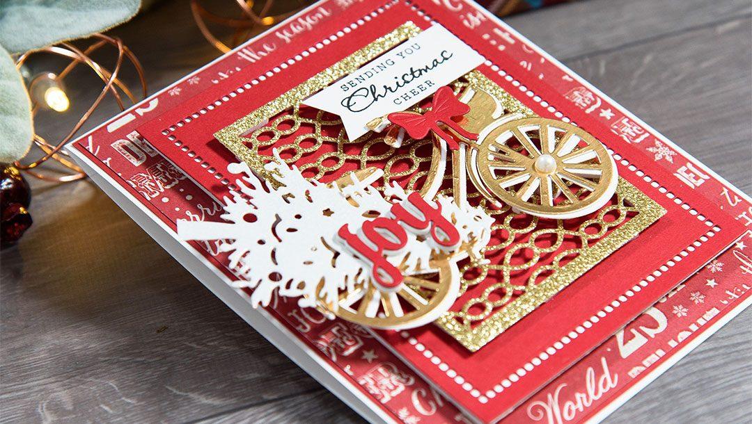 HO HO HO fancy Christmas die cuts scrapbook cards