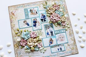 Forever Family Layout by Marisa Job for Spellbinders