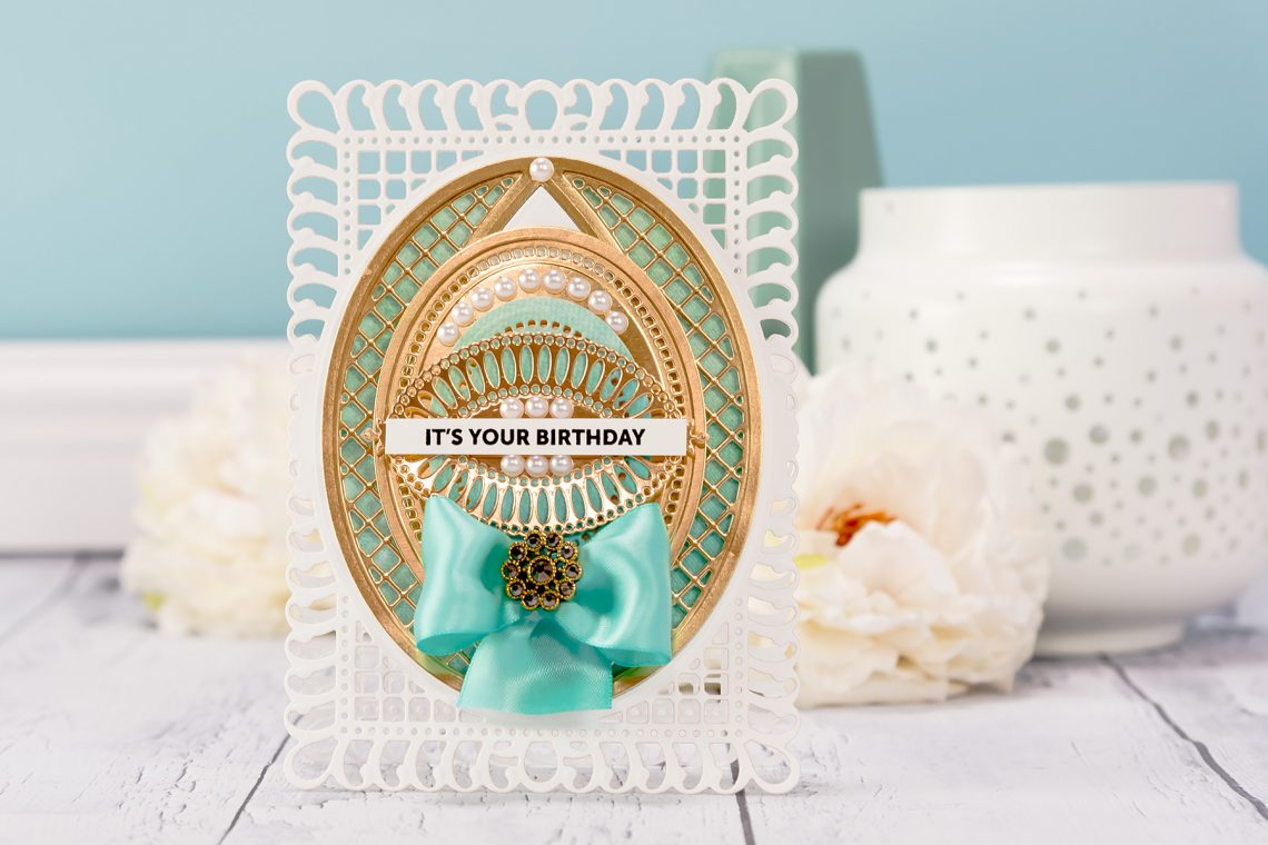 Shaped Cards Video Series. Episode #2 - It's Your Birthday Card by Yana Smakula for Spellbinders