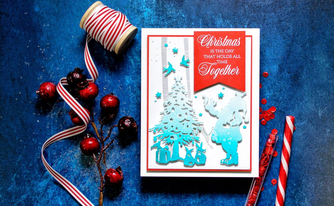 Quick Technique | Christmas Is The Day Card with Deck The Halls Die