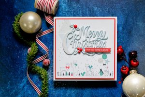 Quick Technique   Holiday Card by Yana Smakula for Spellbinders using S4-774 Merry Christmas Die