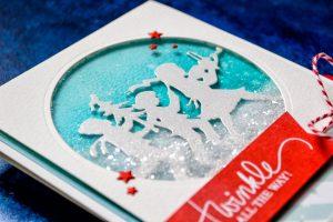 Quick Technique | Twinkle All The Way Card by Yana Smakula for Spellbinders using Fa La La Die