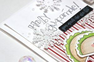 "Spellbinders DIY Christmas Card from ""Love, Set, Match"" Collection by Debi Adams #spellbinders #christmascard #cardmaking"