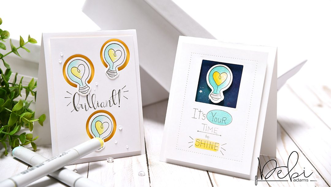 "Spellbinders Take Two: Creating Two Cards Using the Latest Collection, ""Love, Set, Match"" by Debi Adams using Wink Wink Love Set Match by Debi Adams Stamp and Die Set #spellbinders #diecutting #stamping #cardmaking"