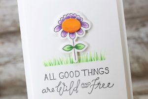 Clean & Simple Floral Card by Laurie Willison for Spellbinders using SDS-112 Beau-ti-ful Love Set Match by Debi Adams Stamp and Die Set #spellbinders #cardmaking #floralcard #diecutting #debiadams