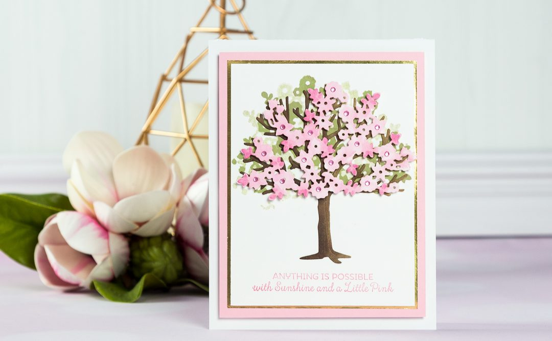 Cardmaking Inspiration | Little Pink Tree Card