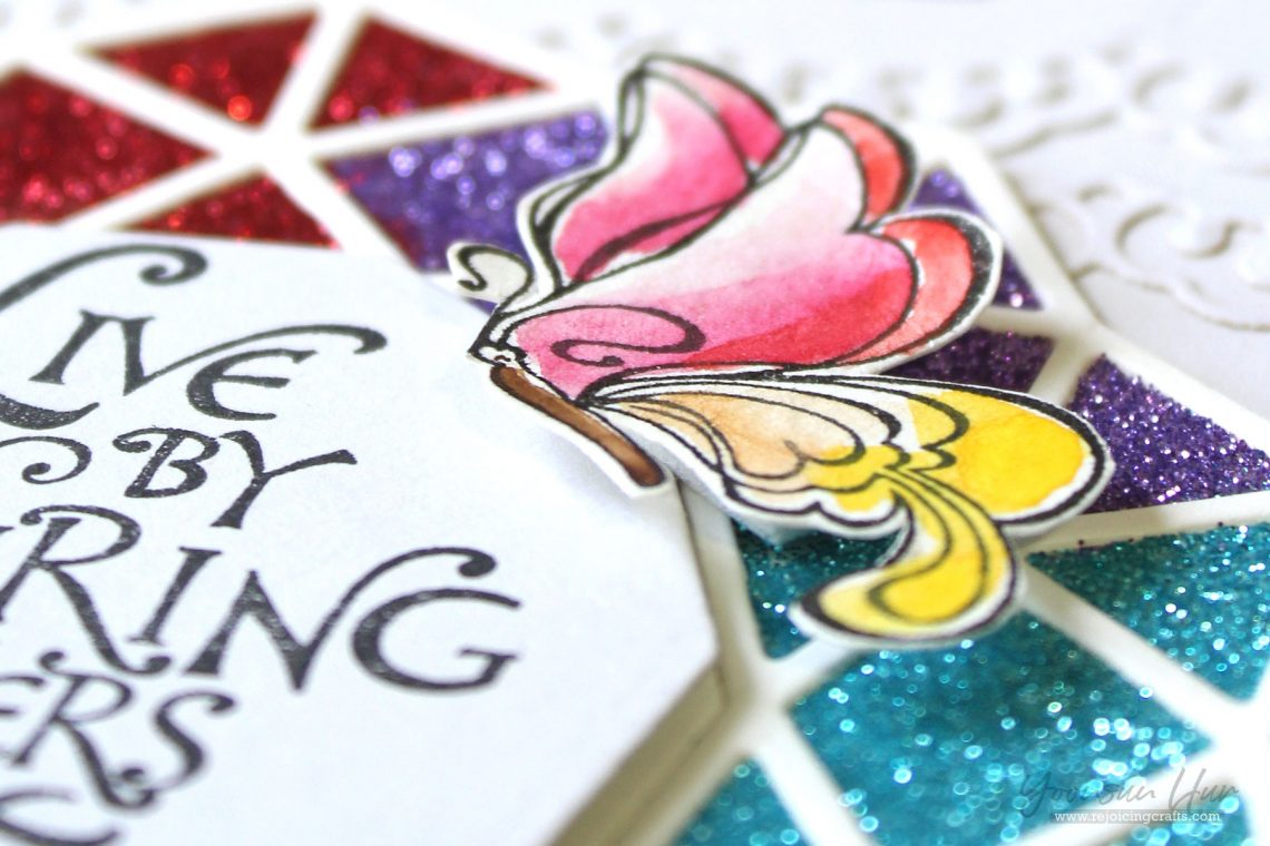 Bible Journaling Inspiration | Live By Inspiring Others with Yoonsun Hur for Spellbinders using SBS-142 Inspiring Others S5-280 Geo Flower #spellbinders #neverstopmaking #diecutting #stamping #handmadecard