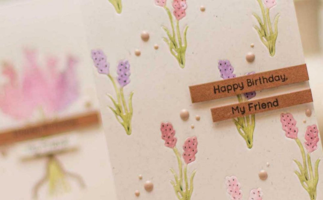 Lavender & Poppies Inspiration | Die-cutting without Dimension with Elena