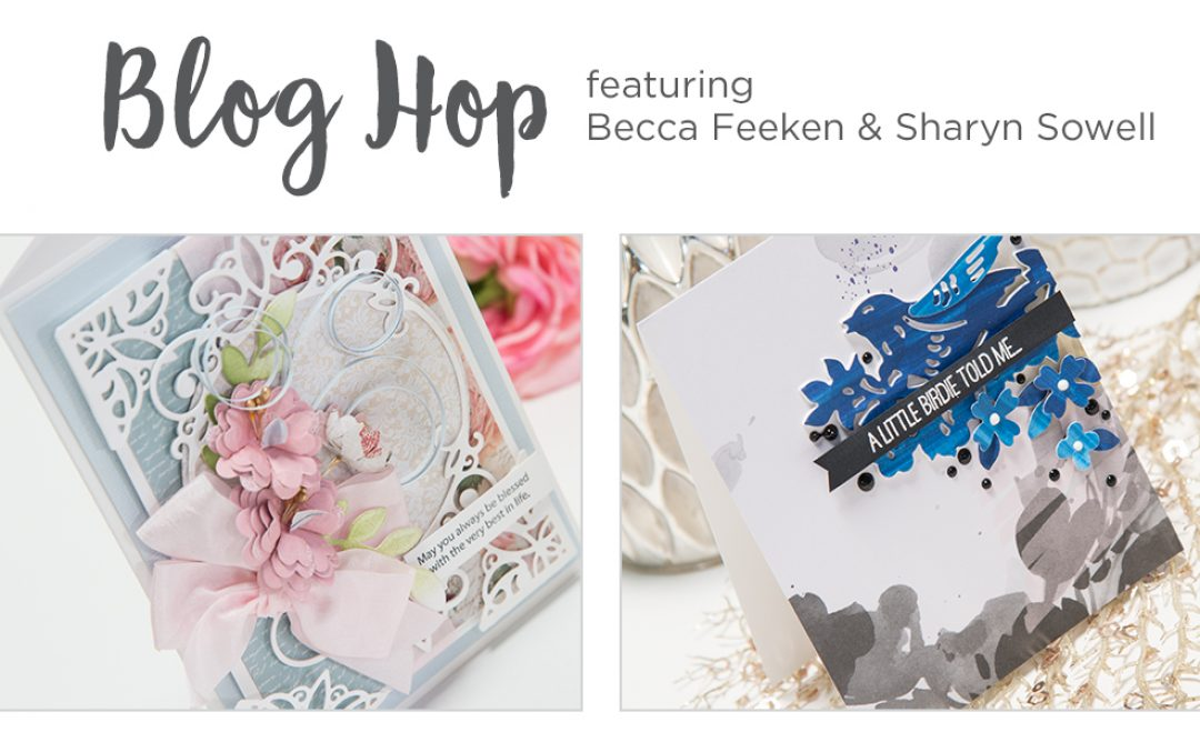 February 2018 Release – Elegant 3D Vignettes & Flower Garden Collections. Blog Hop  + Giveaways (Now Closed)