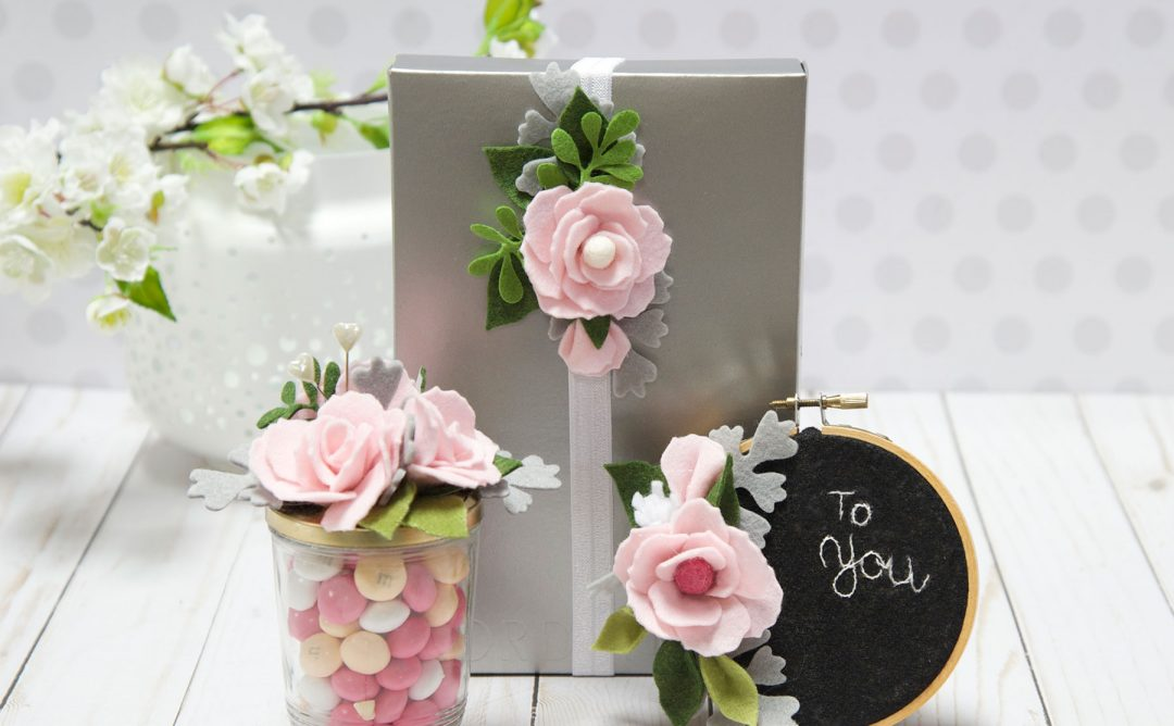 DIY Party Decor Series – Decorating Packages with Felt Flowers – Finale