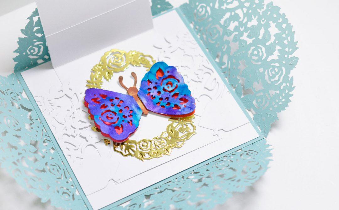Flower Garden Inspiration | Butterfly Gardens Card with Mayline