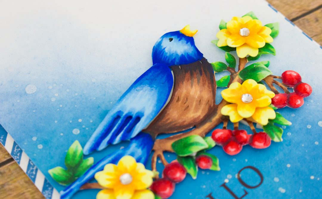 Flower Garden Inspiration | Bird On Cherry Branch + Copic ...
