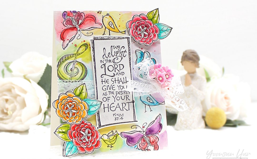 Bible Journaling Inspiration | Lord is My Strength with Yoonsun