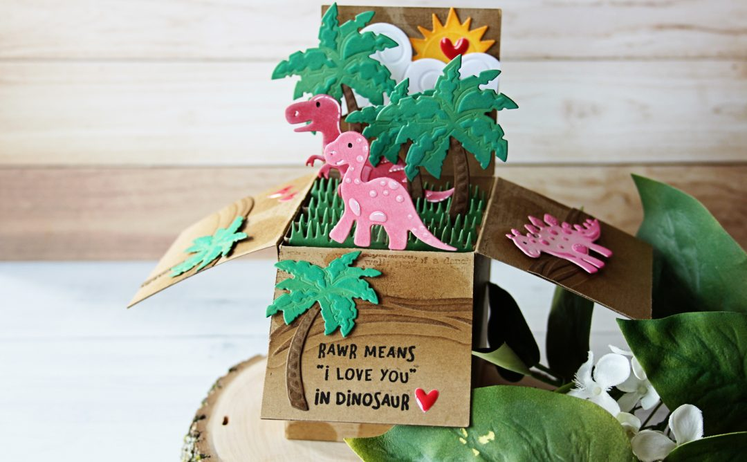 Die D-Lites Inspiration | Dinosaur Pop Up Card. Video