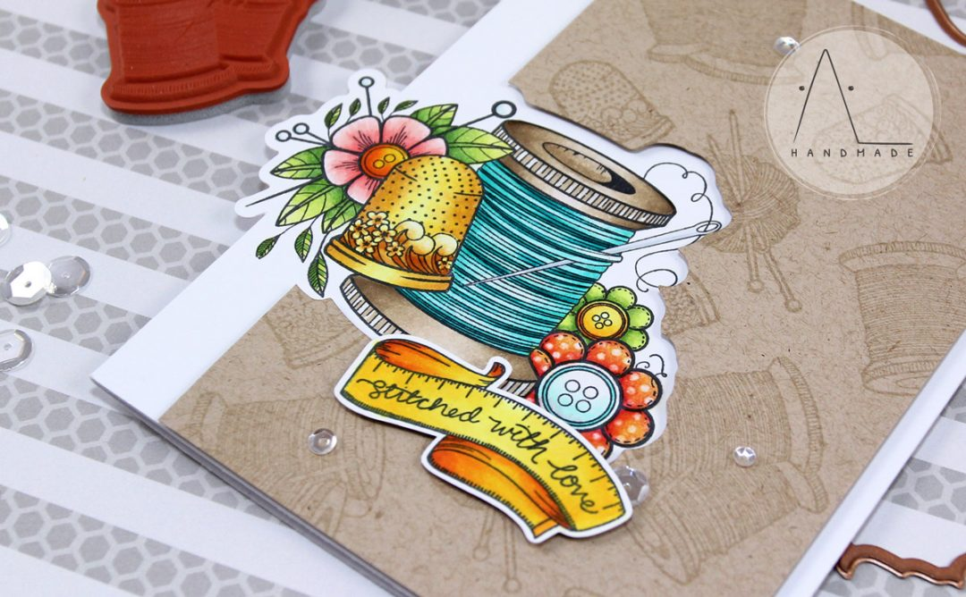 Handmade Collection Inspiration | Sew Handmade Card with Anna