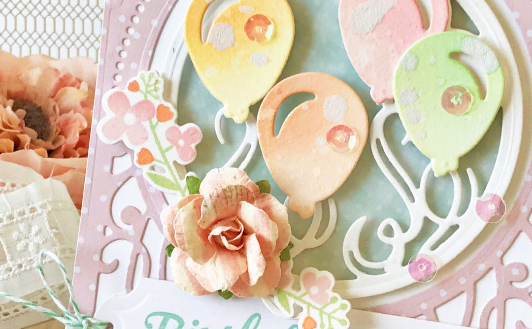 Elegant 3D Vignettes Inspiration | Birthday Card with Melissa