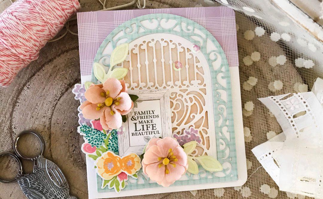 Elegant 3D Vignettes Inspiration | Ornamental Arch Card with Melissa