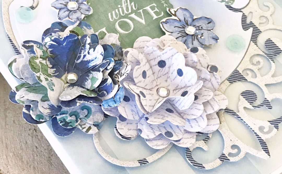 Elegant 3D Vignettes Inspiration | Tiara Rondelle Card with Melissa