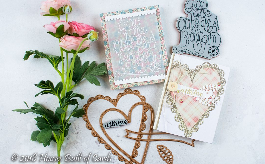 Sew Sweet Collection Inspiration | Cute As A Button Cards with Heather