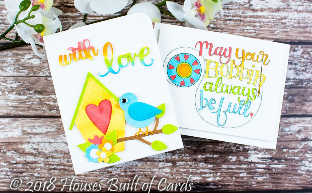 Sew Sweet Inspiration | Colorful Cards with Heather