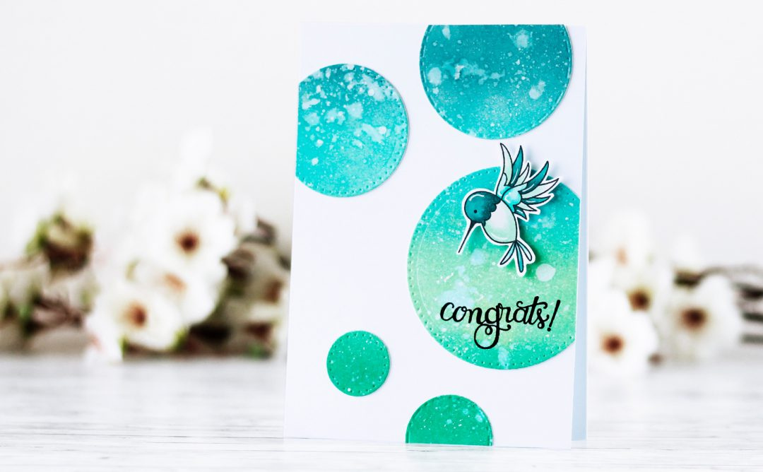 Classics March Collection Inspiration | Ink Blended Circles Card with Kaja for Spellbinders using S4-903 Fancy Edged Circles, S4-902 Scored and Pierced Circles, SBS-138 Tiny Sentiments #cardmaking #spellbinders #diecutting #handmadecard #inkblending