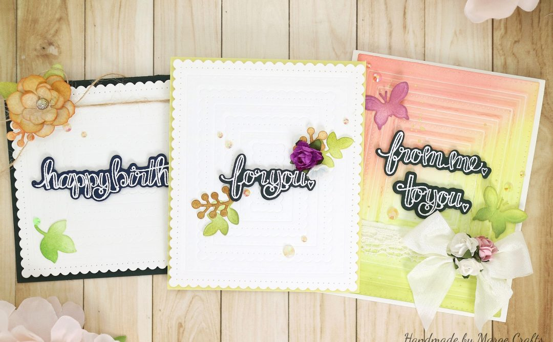 Classics March Collection Inspiration | Dry Embossed Cards with Marge
