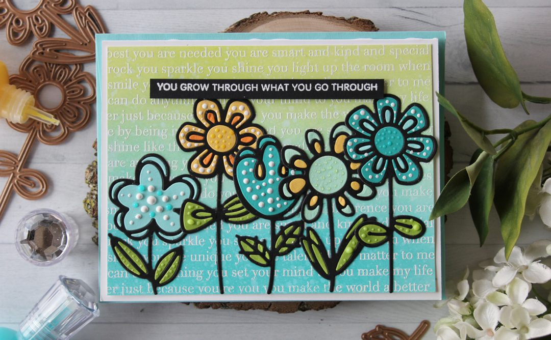 Spellbinders Video Friday | Inlay Sketched Blooms with Nichol using: S3-322 Sketched Blooms, S3-323 Sketched Blooms 2 dies #diecutting #handmadecard #spellbinders #neverstopmaking