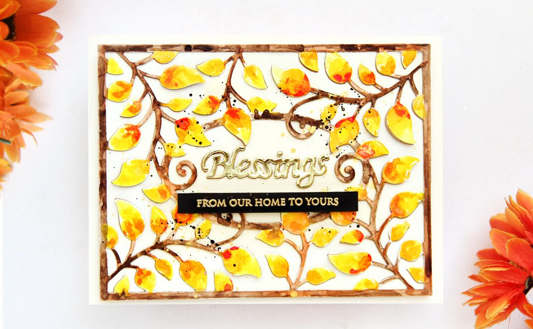 Thoughtful Expressions Inspiration | Watercolour Blessings Card with Erum