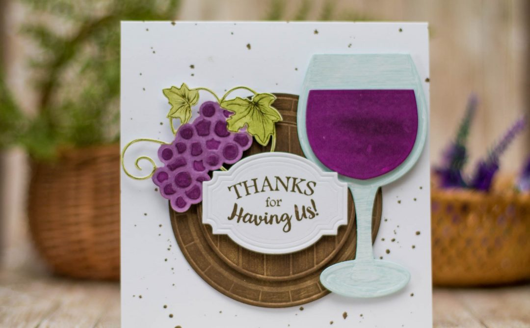 Cardmaking Inspiration | Thanks For Having Us Card