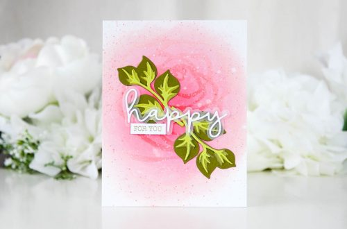 Exclusive Indie Collection Inspiration | Layered Foliage by Keeway for Spellbinders. Using: SDS-153 Happy Expressions; S5-361 Layered Foliage. The Exclusives collection is only available at select online and local independent retailers. #spellbinders #diecutting #handmadecard #neverstopmaking #spellbindersdies