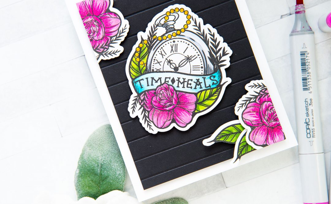 Inked Messages Inspiration | Time Heals Card Featuring One Day At A Time Stamp and Die Set
