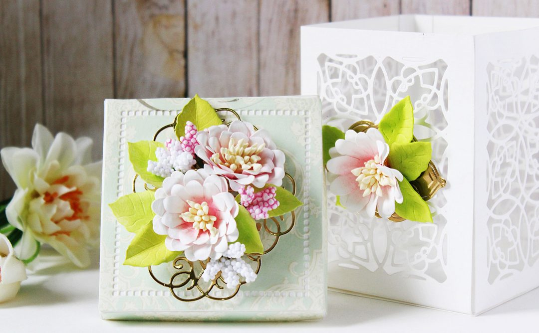 Romancing The Swirl Inspiration | Floral Gift Box and Card with Hussena