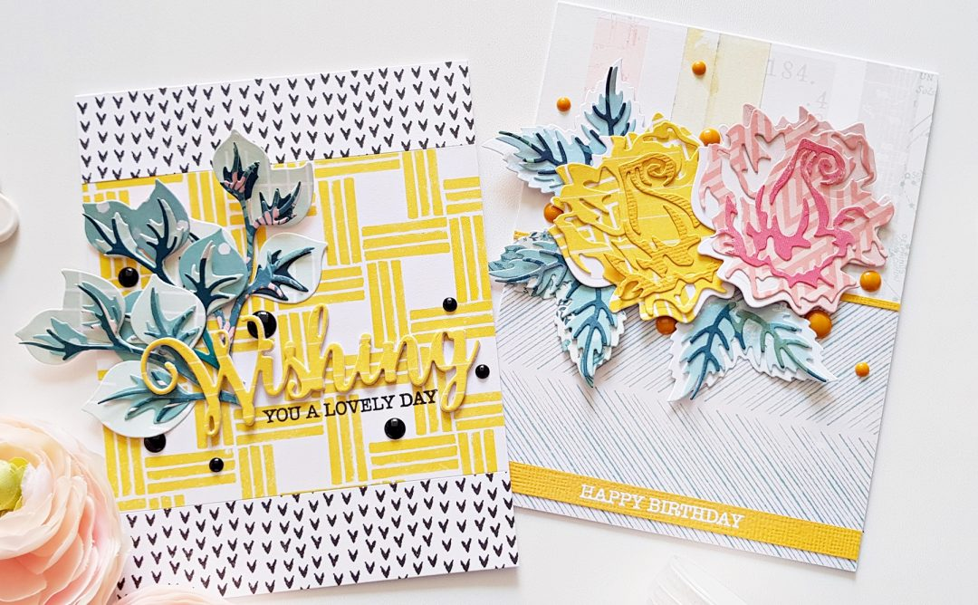 Exclusive Indie Collection Inspiration | Layered Rose Cards with Zsoka