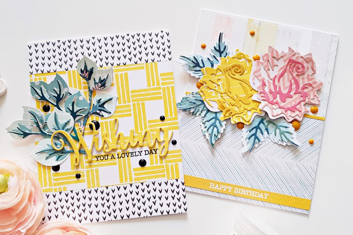Exclusive Indie Collection Inspiration | Layered Rose Cards by Zsoka for Spellbinders using SDS-157 Wishing Expressions S4-921 Layered Rose S5-361 Layered Foliage. #spellbinders #neverstopmaking #diecutting #handmadecard