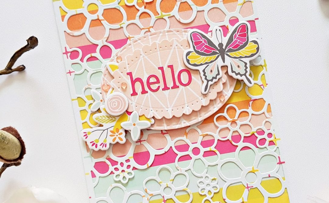 Special Moments Collection by Marisa Job - Inspiration | Floral Cards by Zsoka Marko for Spellbinders. Using: S5-376 Miss You Swirl, S5-378 Floral Oval, S5-375 Flower Background, S4-907 Fancy Edged Ovals #spellbinders #diecutting #handmadecard #neverstopmaking