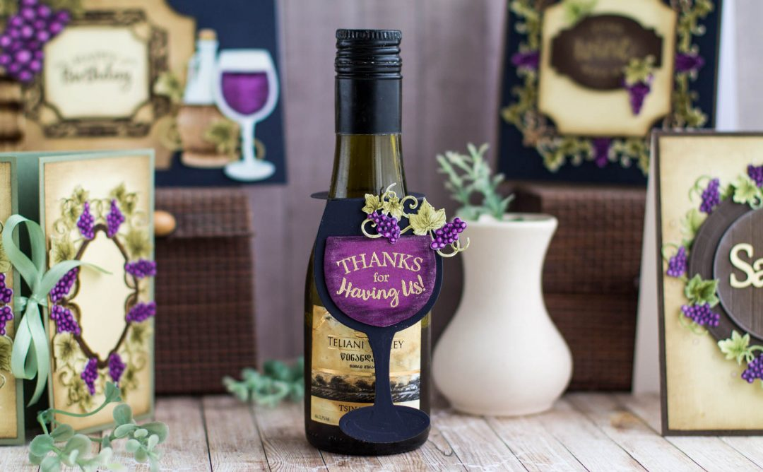 Cardmaking Inspiration | Wine Bottle Tag with Elena