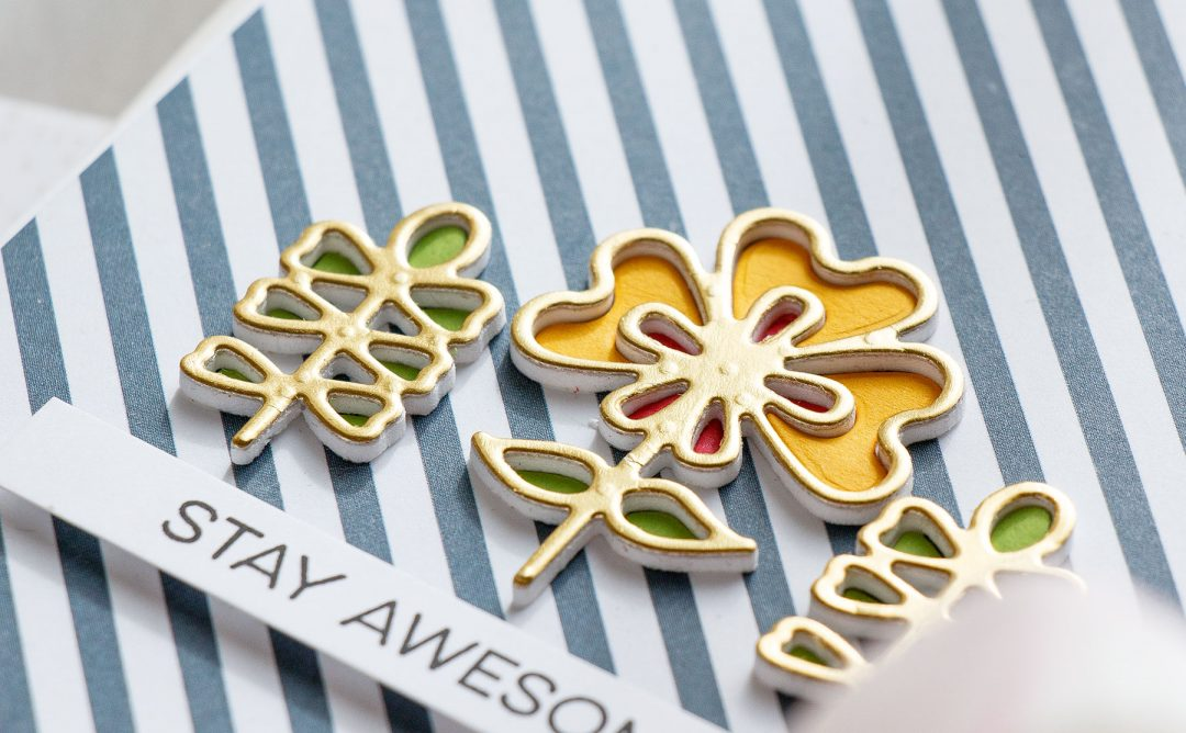 Cardmaking Inspiration | Stay Awesome Card Featuring Dainty Florals with Yana