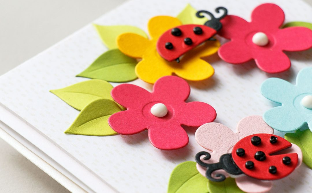 Cardmaking Inspiration | You Are My Happy Card Featuring Lady Bug Garden with Yana