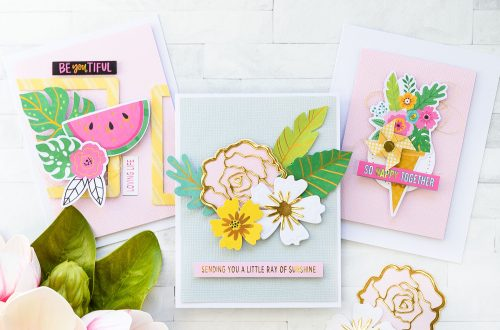 Spellbinders August 2018 Card Kit of the Month is Here! #spellbinders #spellbindersclubkits #neverstopmaking