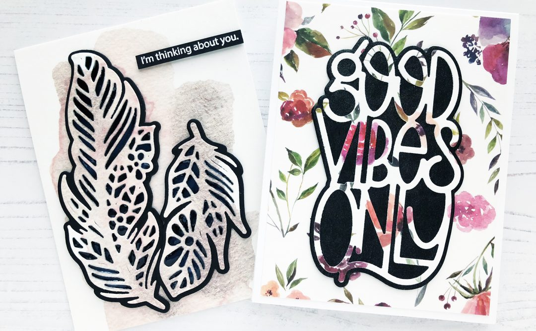 Good Vibes Only Inspiration | Washi Tape Cards with Caly