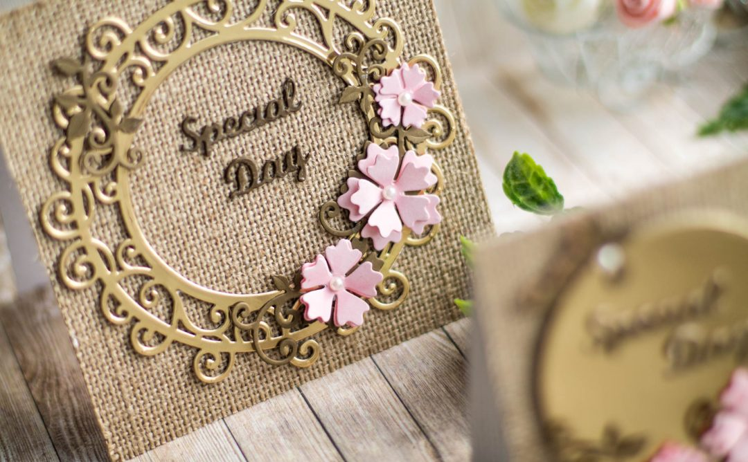 Special Moments Inspiration | Burlap and Gold Cards with Elena