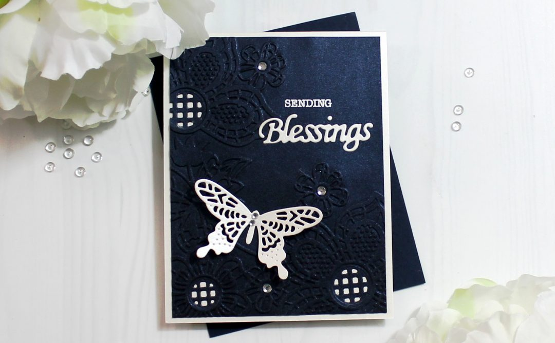 Cut & Emboss Folders Inspiration | Blessings Card with Ilina