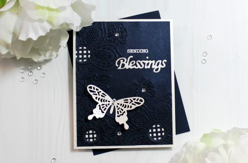 Spellbinders Cut & Emboss Folders Inspiration | Blessings Card with Ilina #spellbinders #neverstopmaking