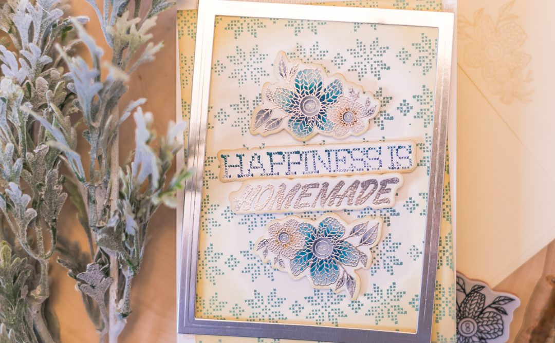 Handmade Collection Inspiration | Faux Stitched Antique Card by Jenny Colacicco