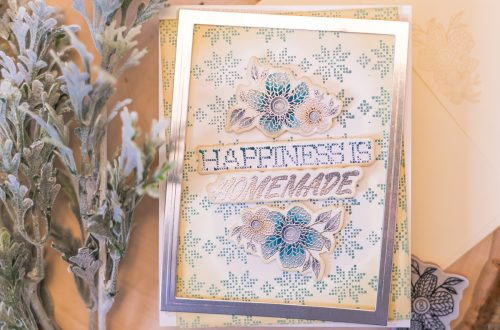 Spellbinders - Handmade Collection by Stephanie Low - Inspiration | Faux Stitched Antique Card by Jenny Colacicco #spellbinders #stamping